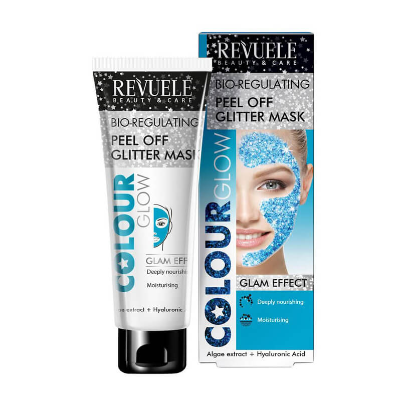 Afbeelding van Revuele Peel Off Glitter Mask Blue (Bio Regulating) 80ml.