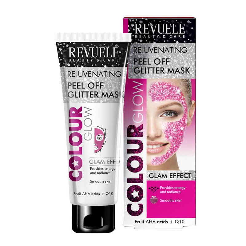 Afbeelding van Revuele Peel Off Glitter Mask Pink (Rejuvenating) 80ml.