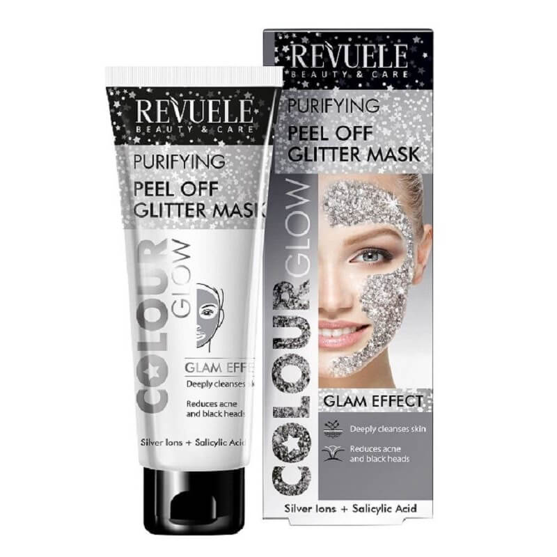 Afbeelding van Revuele Peel Off Glitter Mask Silver (Purifying) 80ml.