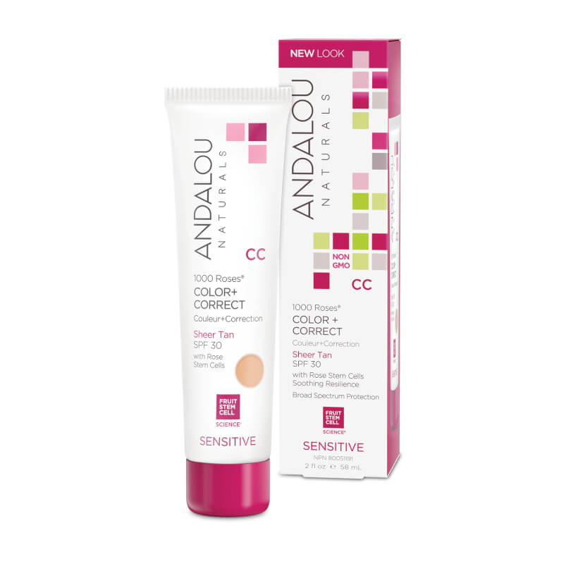 Afbeelding van Andalou Naturals 1000 Roses CC Color + Correct Sheer Tan Spf30 - Sensitive 58ml.