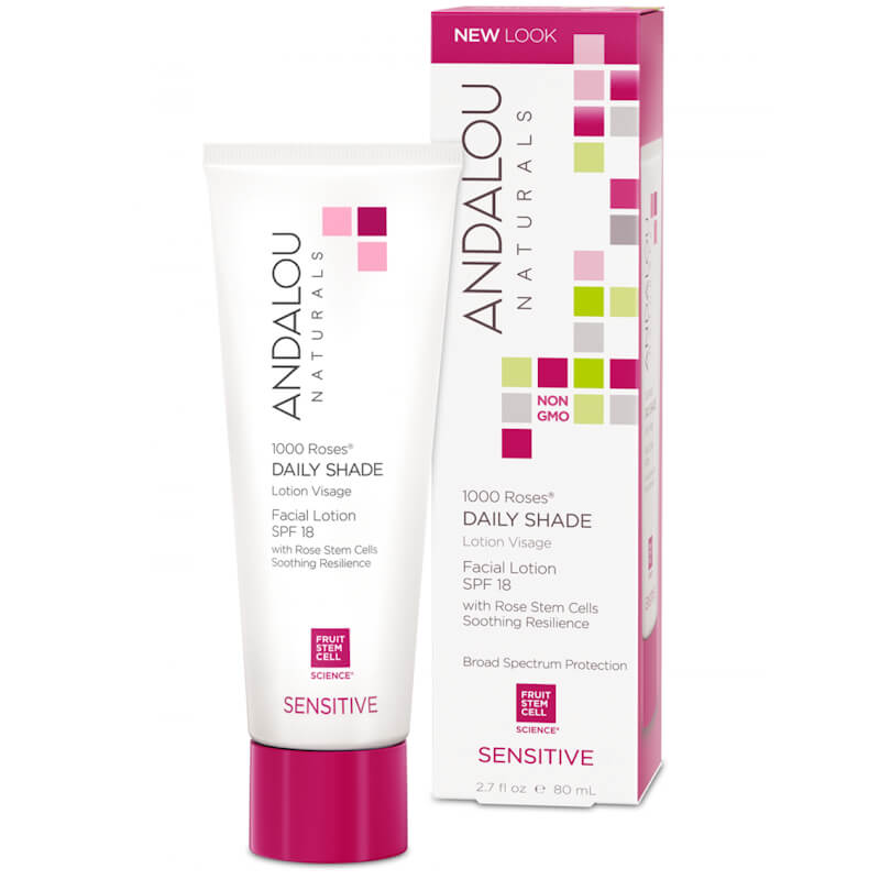 Afbeelding van Andalou Naturals 1000 Roses Daily Shade Facial Lotion Spf18 - Sensitive 80ml.