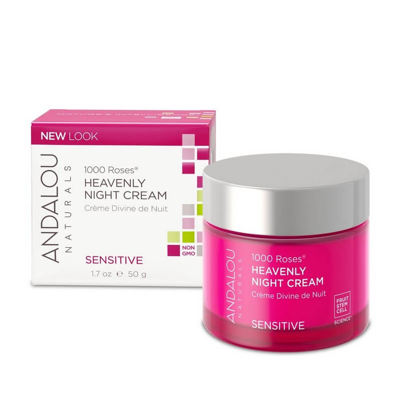 Afbeelding van Andalou Naturals 1000 Roses Heavenly Night Cream - Sensitive 50ml.