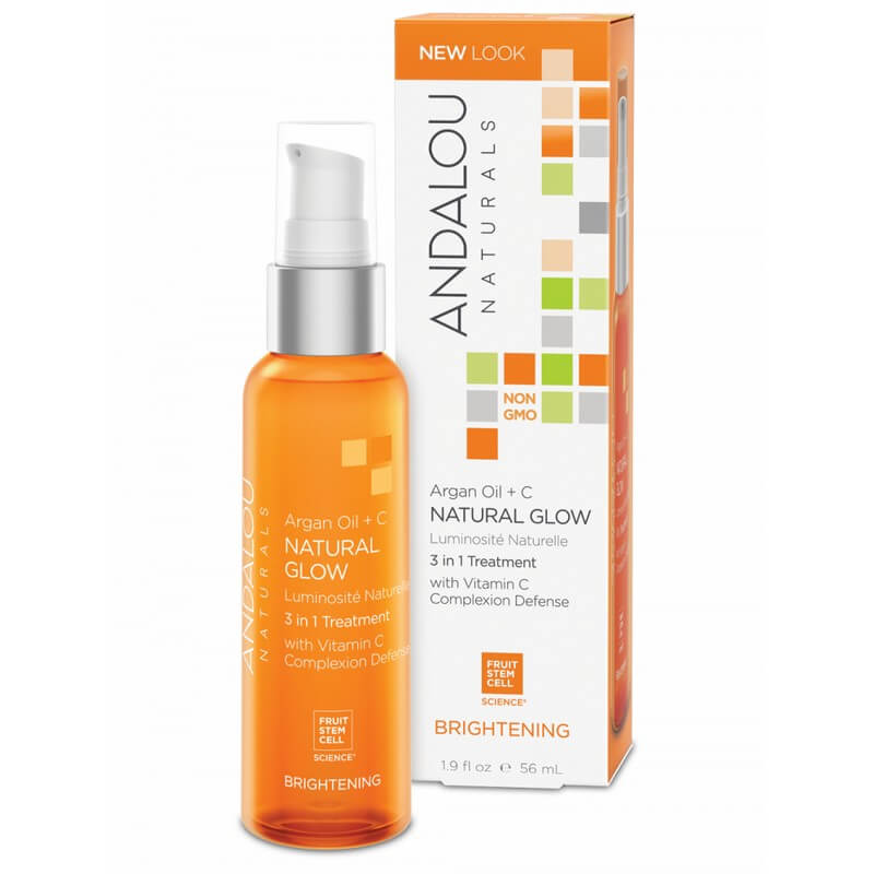 Afbeelding van Andalou Naturals Argan Oil + C Natural Glow 3 In 1 Treatment - Brightening 56ml.