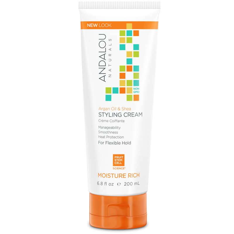 Afbeelding van Andalou Naturals Argan Oil & Shea Styling Cream - Moisture Rich 200ml.