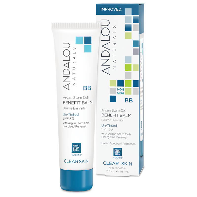 Afbeelding van Andalou Naturals Argan Stem Cell BB Benefit Balm Un-tinted SPF30 - Clear Skin 58ml.