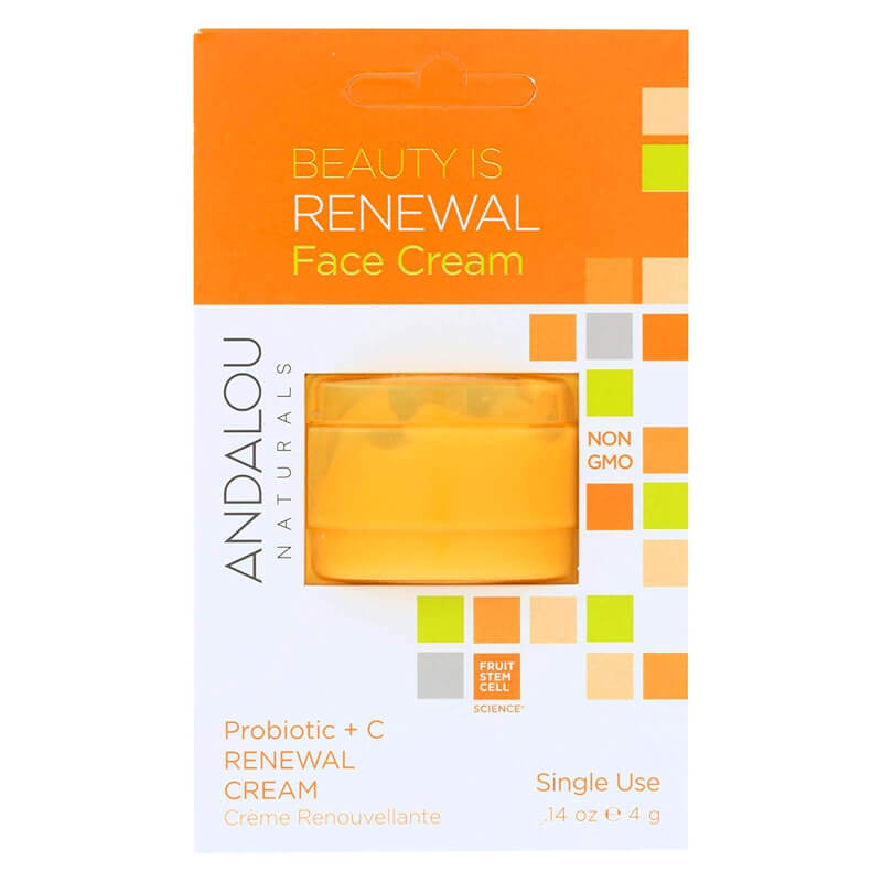 Afbeelding van Andalou Naturals Beauty Is Renewal Face Cream Pod - Brightening 4g.