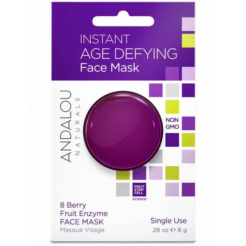 Afbeelding van Andalou Naturals Instant Age Defying Face Mask 8 Berry Fruit Enzyme - Age Defying 8g.