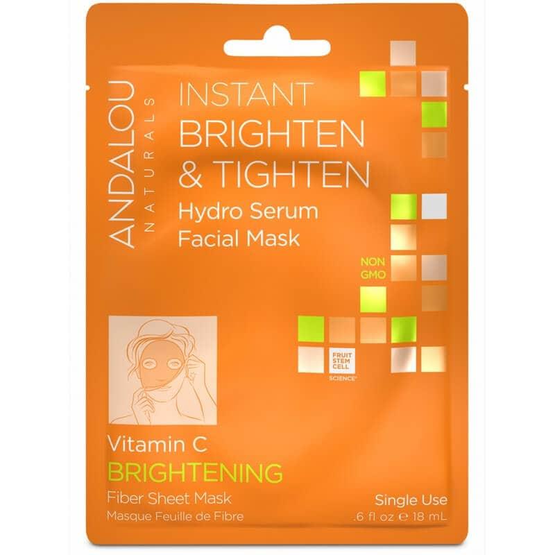 Afbeelding van Andalou Naturals Instant Brighten & Tighten Hydro Serum Facial Mask - Brightening 18ml.
