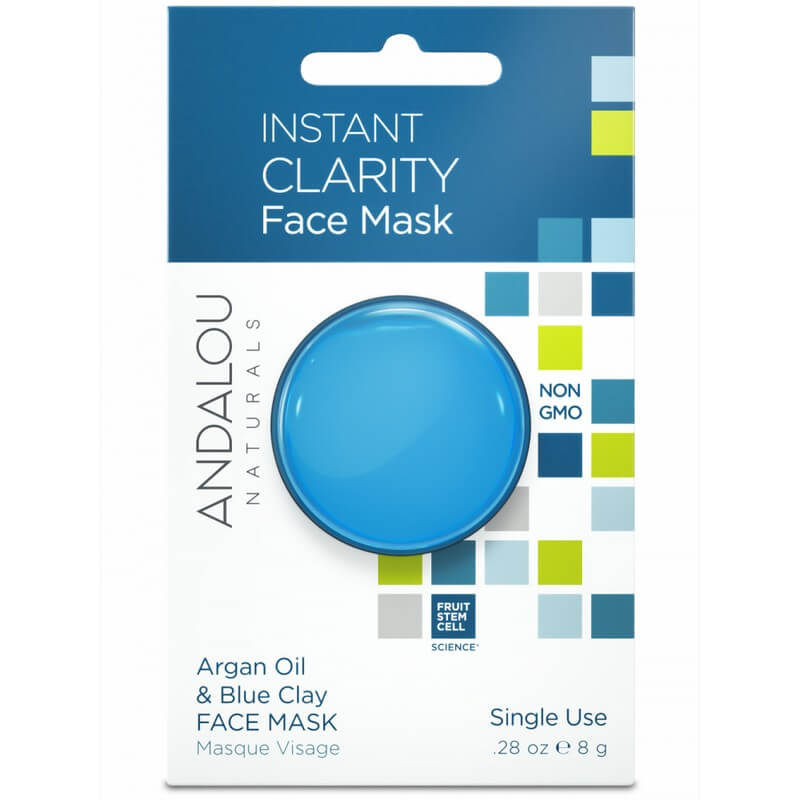 Afbeelding van Andalou Naturals Instant Clarity Face Mask Argan Oil & Blue Clay - Clear Skin 8g.