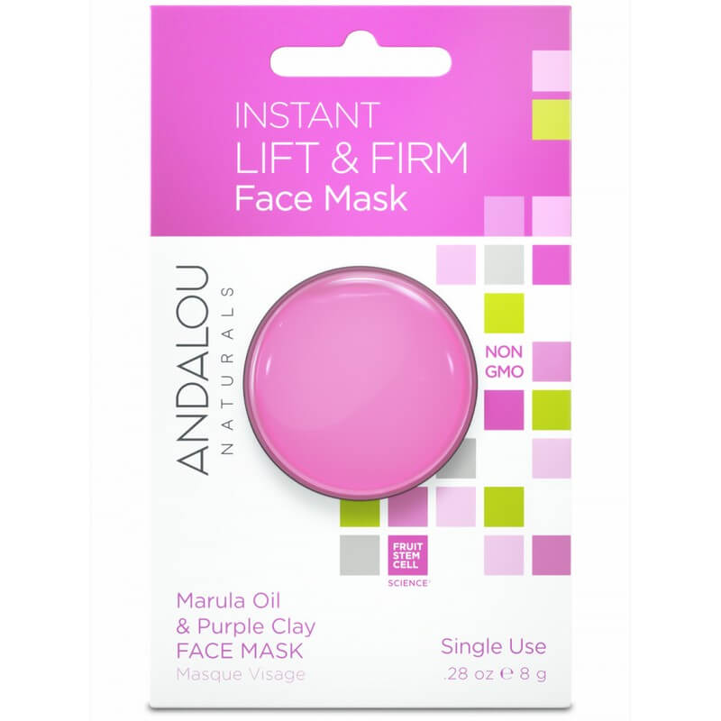 Afbeelding van Andalou Naturals Instant Lift & Firm Face Mask Marula Oil & Purple Clay 8g.