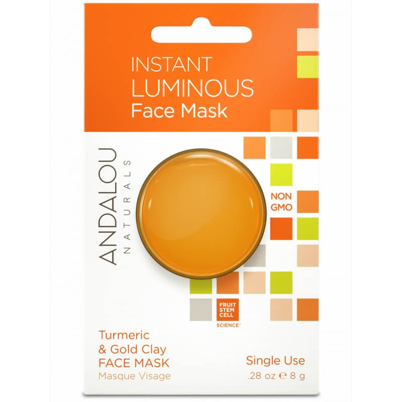 Afbeelding van Andalou Naturals Instant Luminous Face Mask Turmeric & Gold Clay - Brightening 8g.