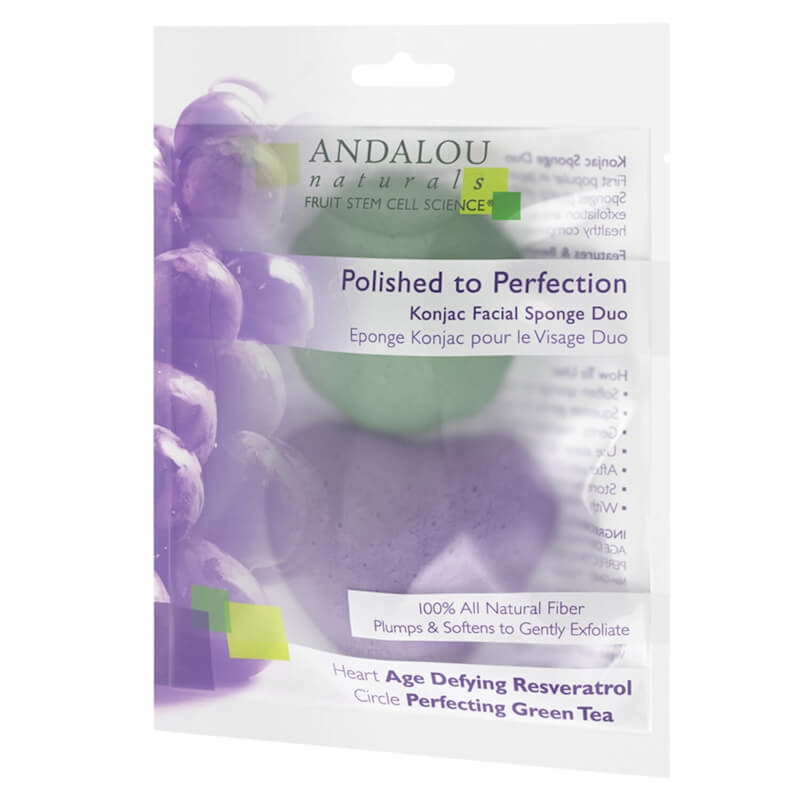 Afbeelding van Andalou Naturals Polished to Perfection Konjac Facial Sponge Duo