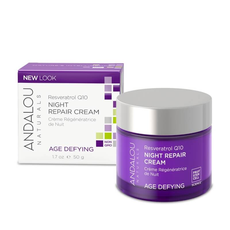 Afbeelding van Andalou Naturals Resveratrol Q10 Night Repair Cream - Age Defying 50ml.