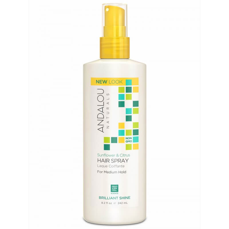 Afbeelding van Andalou Naturals Sunflower & Citrus Brilliant Shine Hair Spray - Strength And Vitality 242ml.