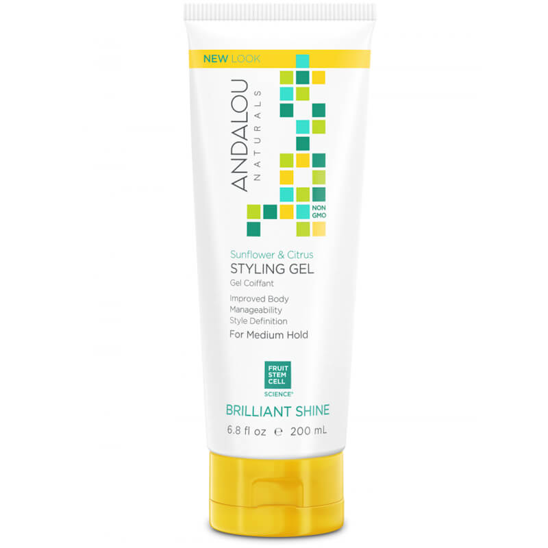 Afbeelding van Andalou Naturals Sunflower & Citrus Brilliant Shine Styling Gel - Strength And Vitality 200ml.
