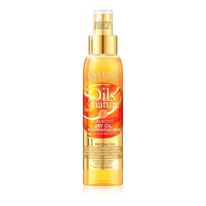 Afbeelding van Eveline Cosmetics 11 Oils Of Nature Dry Oil + Rejuvenating Serum For Face & Body 125ml. (Orange)
