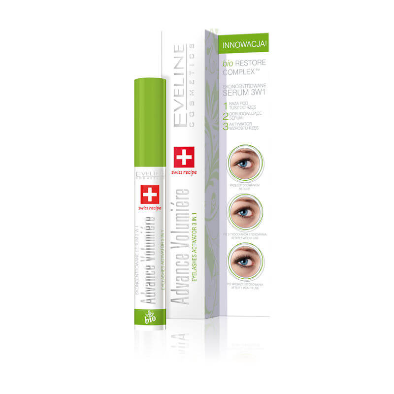 Afbeelding van Eveline Cosmetics Advance Volumiere Eyelashes Activator Wimperserum 3in1 10ml.