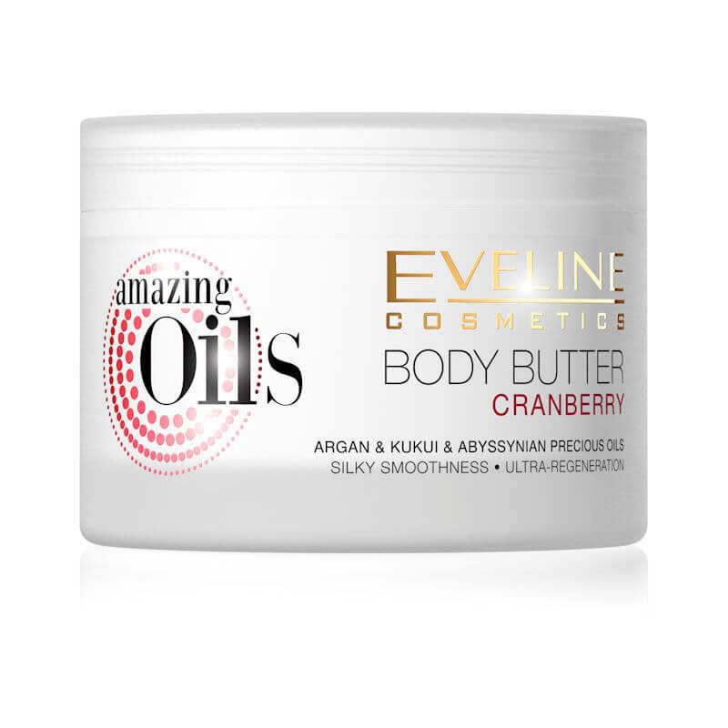 Afbeelding van Eveline Cosmetics Amazing Oils Cranberry Body Butter 200ml.