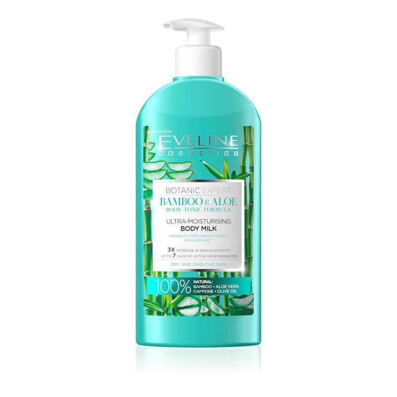 Afbeelding van Eveline Cosmetics Botanic Expert Bamboo & Aloe Ultra Moisturising Body Milk 350ml.