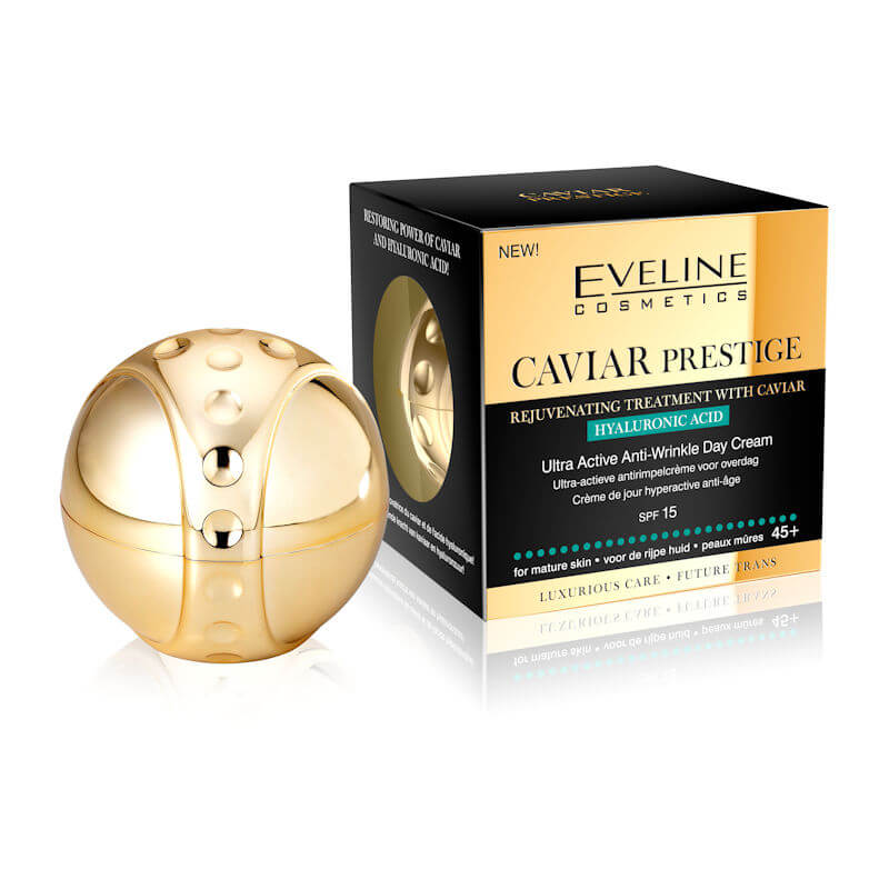 Afbeelding van Eveline Cosmetics Caviar Prestige Ultra Active Anti Wrinkle Day Cream SPF15 50ml.*