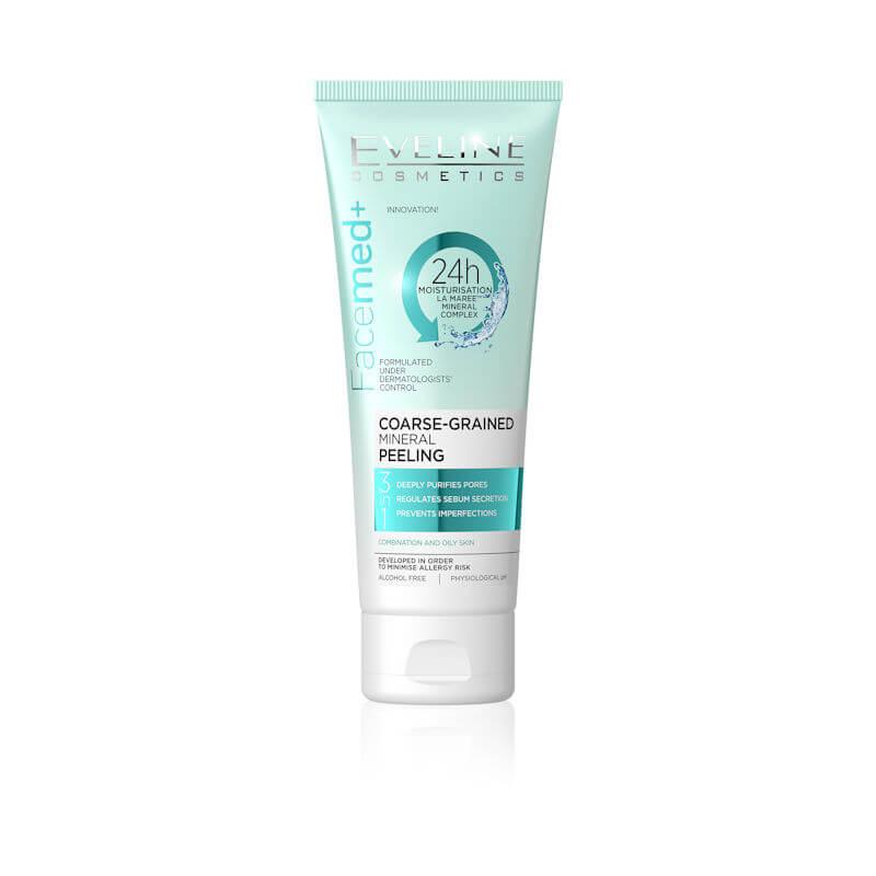 Afbeelding van Eveline Cosmetics Facemed+ Coarse Grained Mineral Peeling 3in1 50ml.