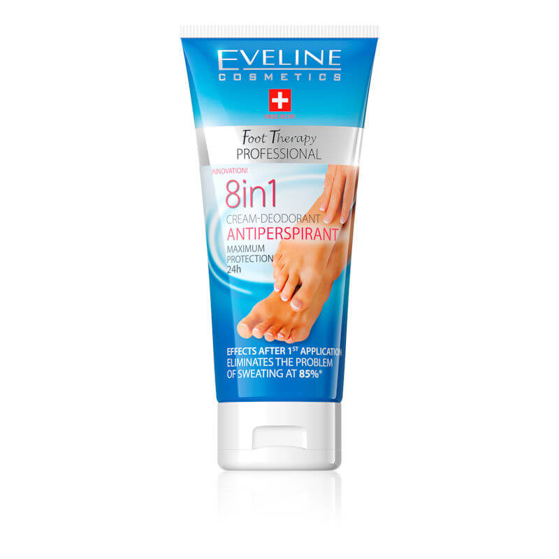 Afbeelding van Eveline Cosmetics Foot Therapy 8in1 Cream Deodorant Antiperspirant 100ml.