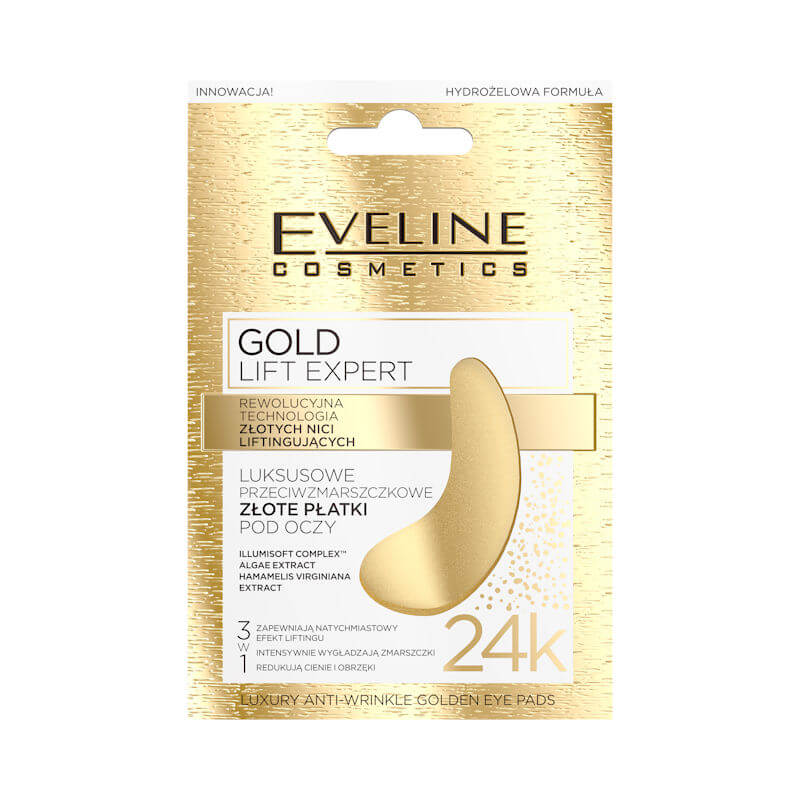Afbeelding van Eveline Cosmetics Gold Lift Expert Luxury Anti Wrinkle Golden Eye Pads