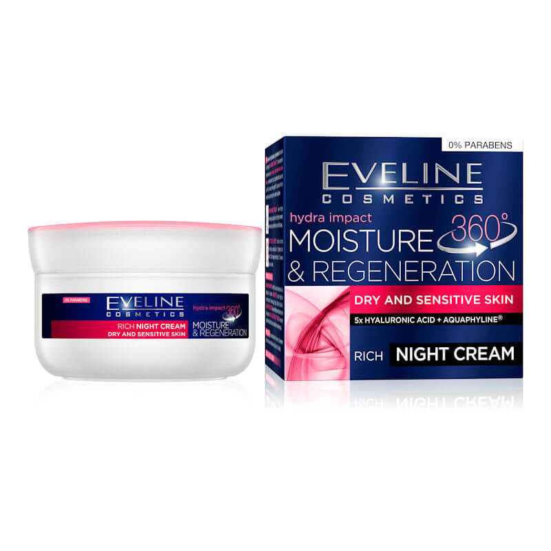 Afbeelding van Eveline Cosmetics Hydra Impact 360 Moisture & Regeneration Night Cream 50ml.