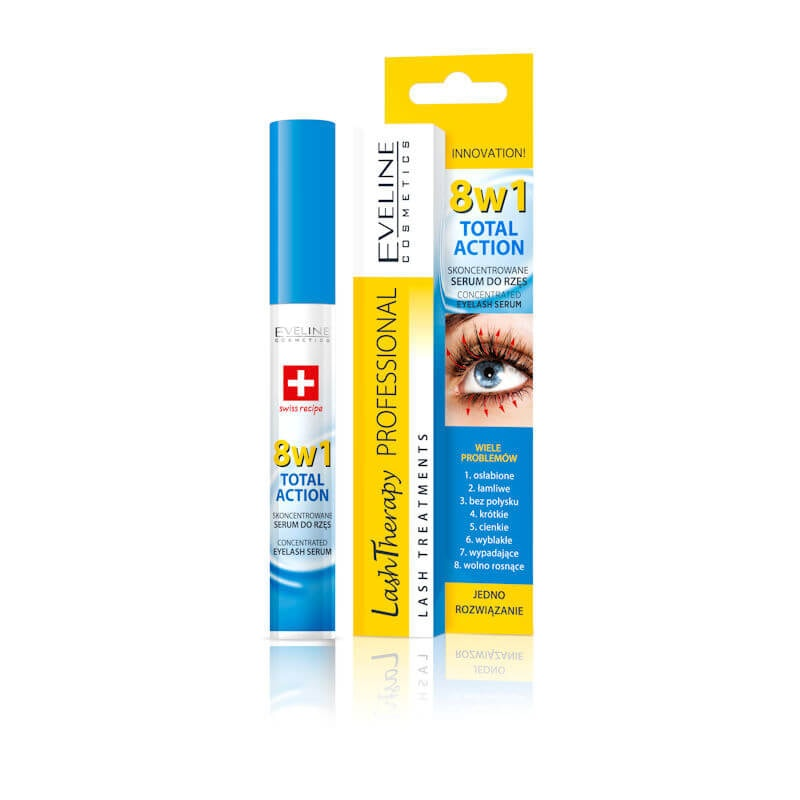 Afbeelding van Eveline Cosmetics Lash Therapy Wimperserum 8in1 10ml.