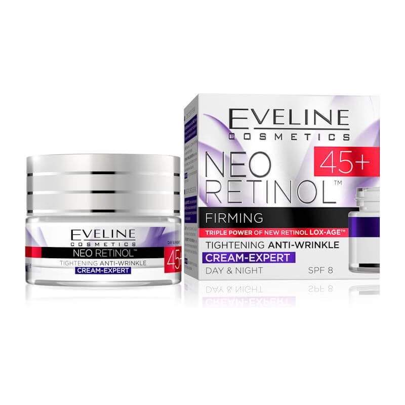 Afbeelding van Eveline Cosmetics Neo Retinol Day & Night Cream 45+ SPF8 - 50ml.