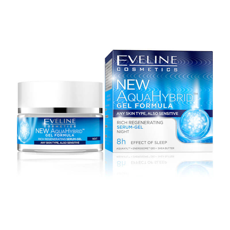 Afbeelding van Eveline Cosmetics New Aqua Hybrid Rich Regenerating Serum- Gel Night 50ml.