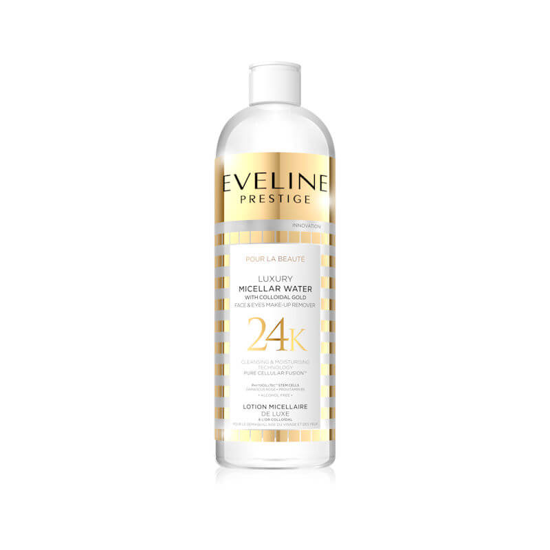 Afbeelding van Eveline Cosmetics Prestige Luxury Micellar Water Face & Eyes Make Up Remover 500ml.