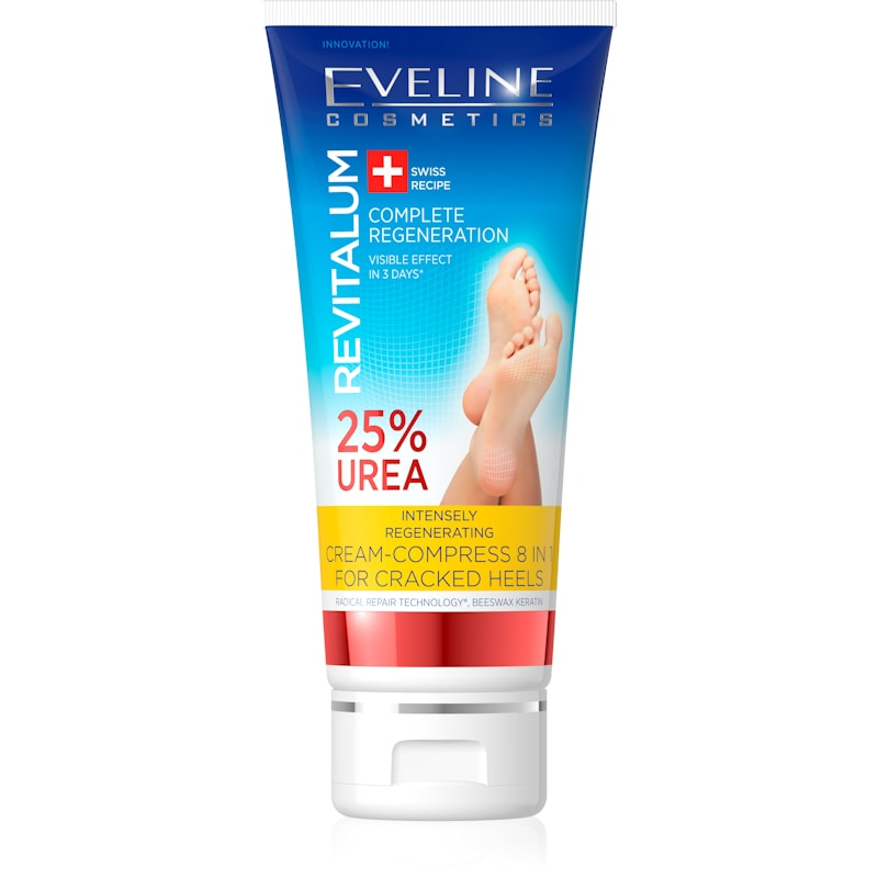 Afbeelding van Eveline Cosmetics Revitalum Intensely Regenerating Cream-compress 8in1 For Cracked Heels 25% Urea 100ml.