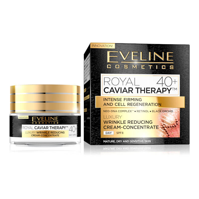 Afbeelding van Eveline Cosmetics Royal Caviar Therapy Day Cream 40+ SPF8 50ml.