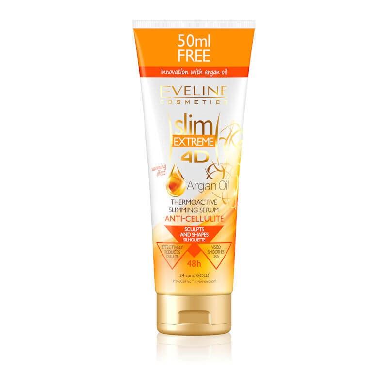 Afbeelding van Eveline Cosmetics Slim Extreme 4D Argan Oil Thermo Active Slimming Serum Anti Cellulite 250ml.