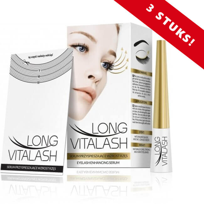 Afbeelding van 3 x REVERS® Wimperserum Long Vitalash 5ml. (15ml.)