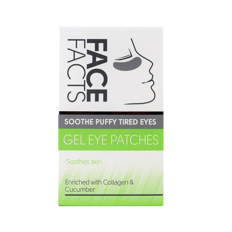 Afbeelding van Face Facts Soothe Puffy Tired Eyes Gel Eye Patches 4 paar
