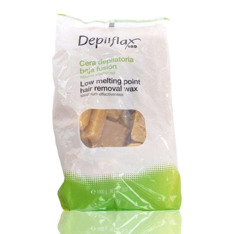 Afbeelding van DermaSyis Depilflax Wax Blokken Naturel ( Striploos waxen ) 1kg.