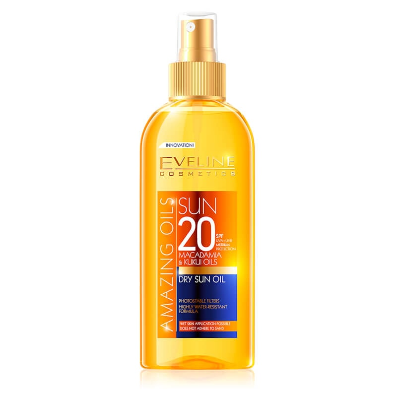 Afbeelding van Eveline Cosmetics Amazing Oils Dry Sun Oil SPF20 150ml.