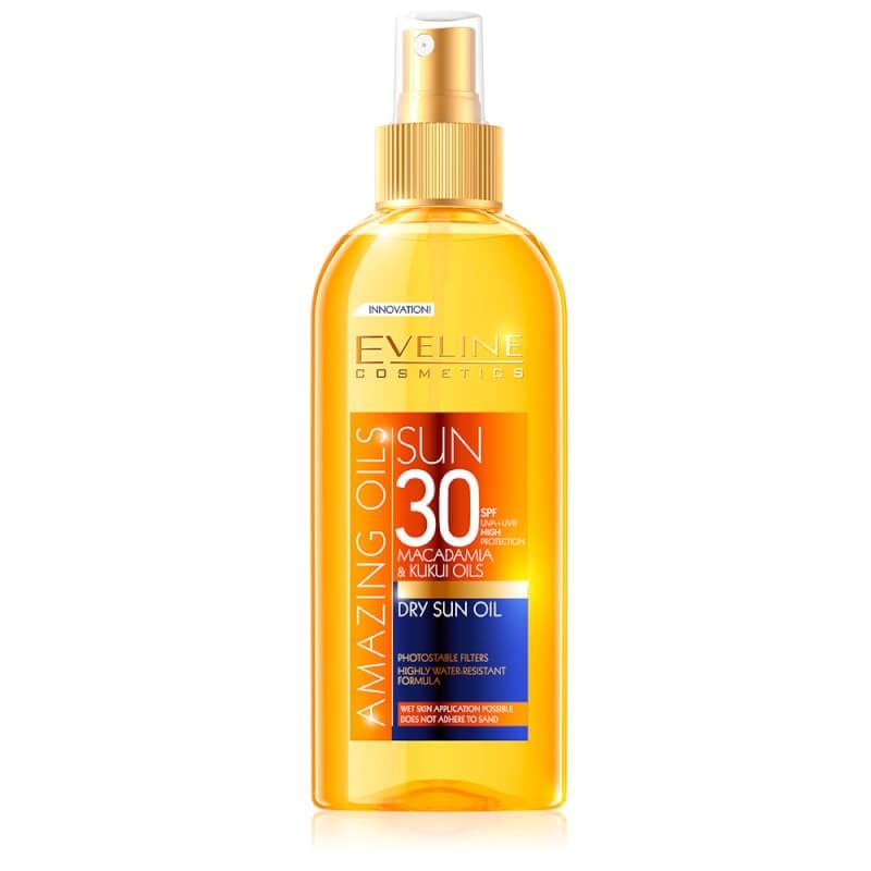 Afbeelding van Eveline Cosmetics Amazing Oils Dry Sun Oil SPF30 - 150ml.