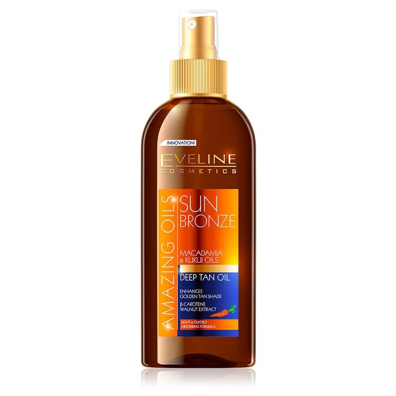 Afbeelding van Eveline Cosmetics Amazing Oils Sun Bronze Deep Tan Oil 150ml.