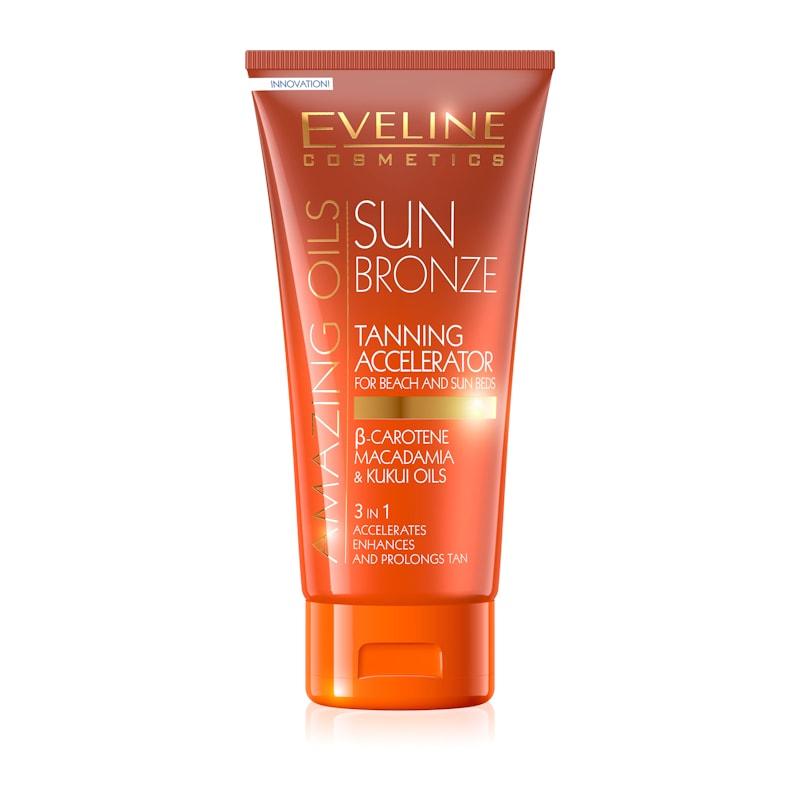 Afbeelding van Eveline Cosmetics Amazing Oils Sun Bronze Tanning Accelerator For Beach And Sun Beds 3 in 1 - 150ml.