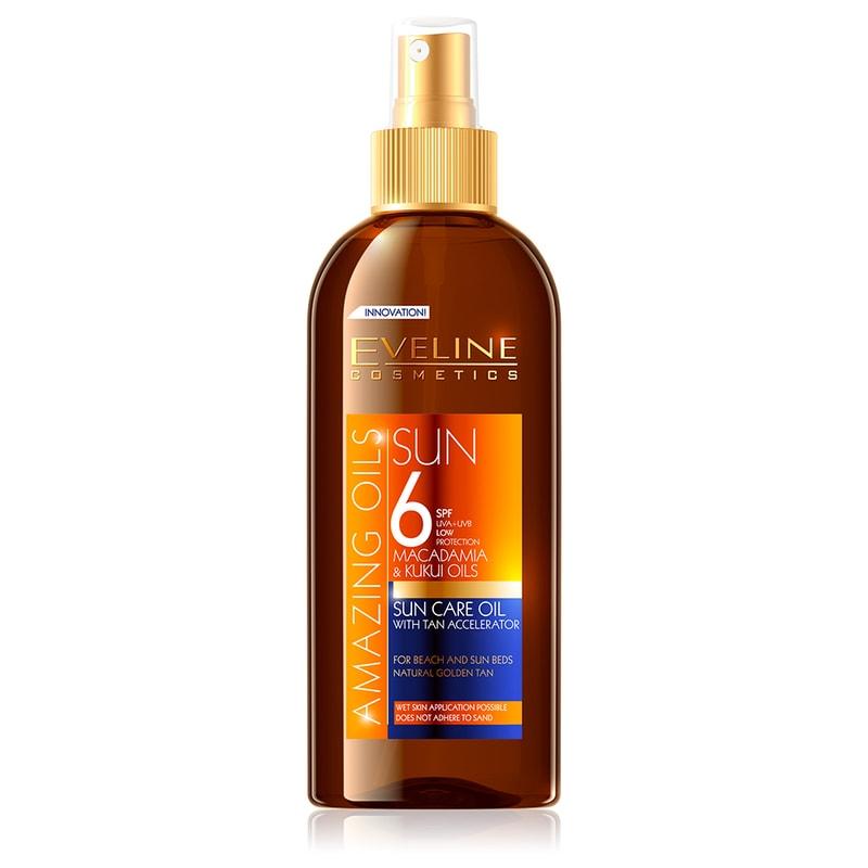 Afbeelding van Eveline Cosmetics Amazing Oils Sun Care Oil With Tan Accelerator SPF6 150ml.