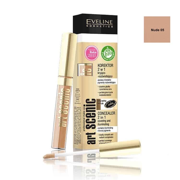 Afbeelding van Eveline Cosmetics Art Scenic Concealer 2in1 Nude