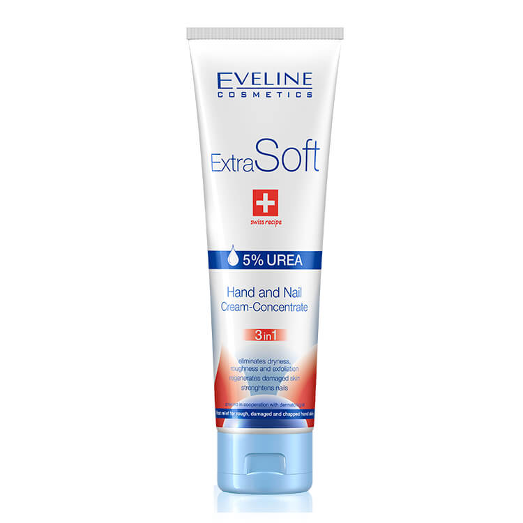 Afbeelding van Eveline Cosmetics Extra Soft Hand And Nail Cream-concentrate 3 In 1 - 100ml.