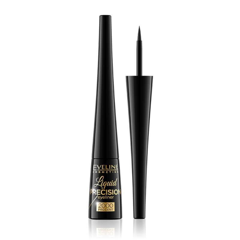 Afbeelding van Eveline Cosmetics Eyeliner Liquid Precision 2000% Black