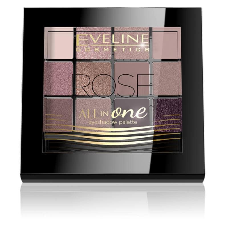 Afbeelding van Eveline Cosmetics Eyeshadow Palette All In One 12 Colors Rose