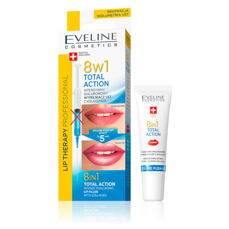 Afbeelding van Eveline Cosmetics Lip Therapy 8in1 Total Action Intense Hyaluronic Lip Filler With Collagen