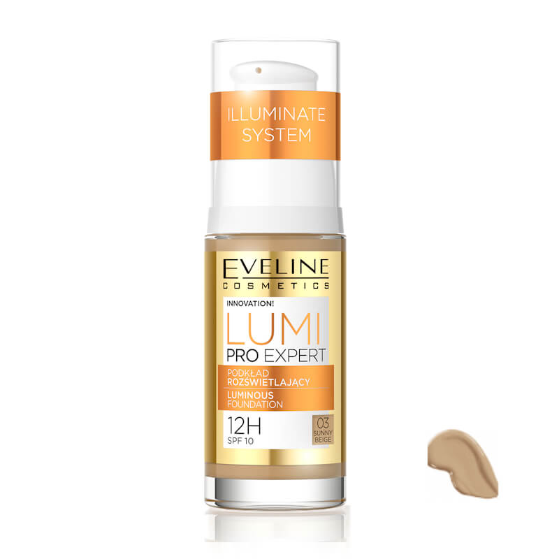 Afbeelding van Eveline Cosmetics Lumi Pro Expert Luminous Foundation No. 03 Sunny Beige 30ml.