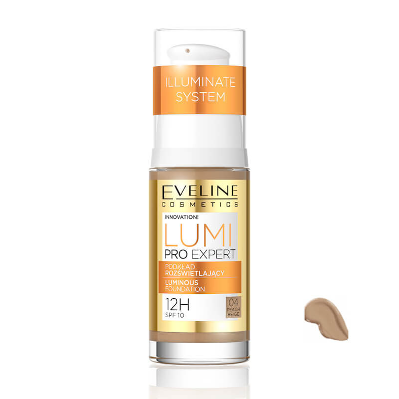 Afbeelding van Eveline Cosmetics Lumi Pro Expert Luminous Foundation No. 04 Peach Beige 30ml.